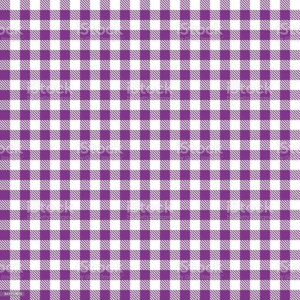 Checkered Tablecloths Pattern   Endless   Purple Vector Art Illustration