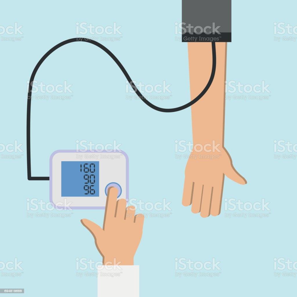 checking blood pressure 2 векторная иллюстрация