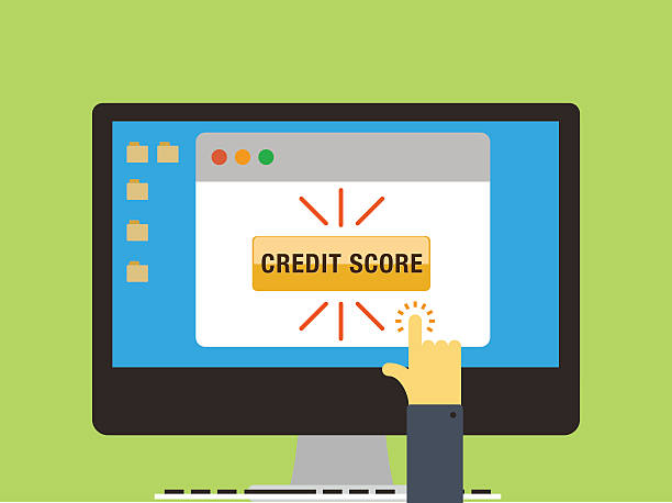 checking credit score - credit score stock illustrations, clip art, cartoons, & icons