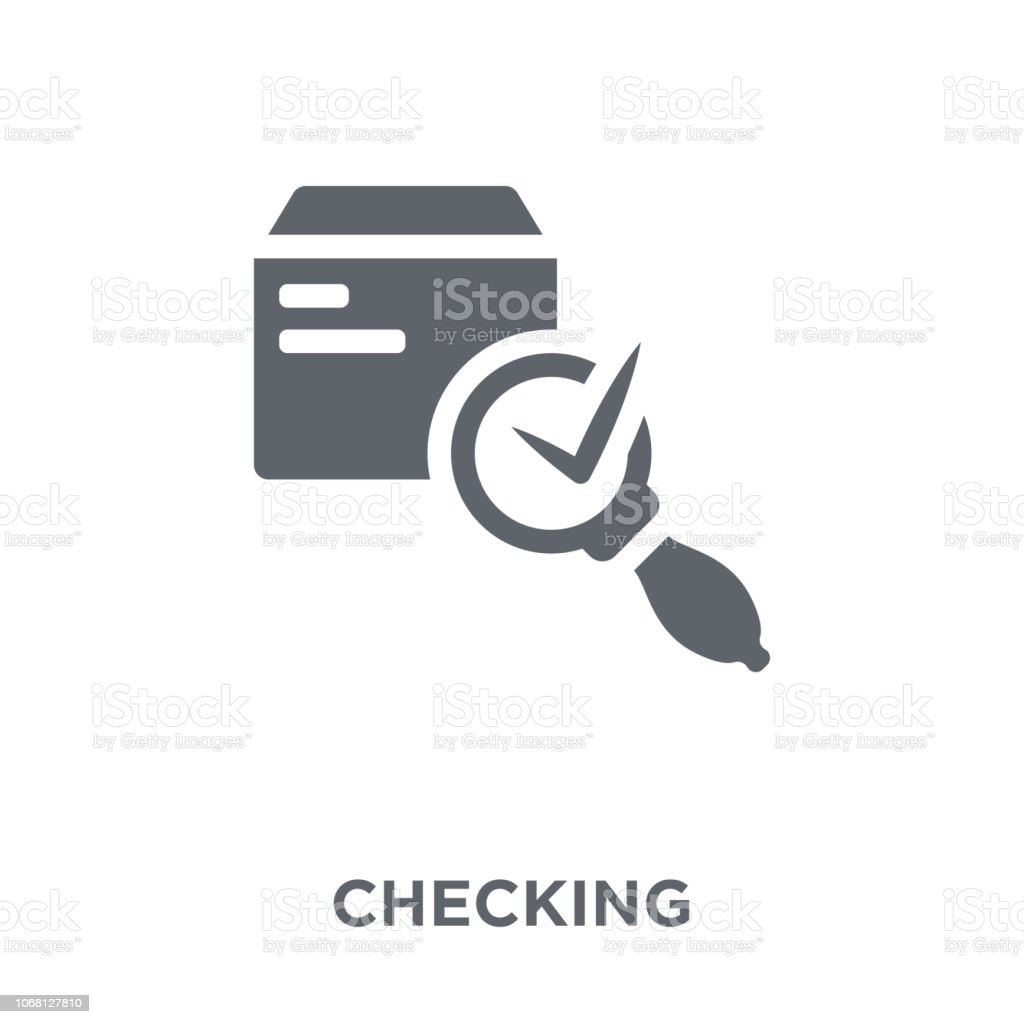 Checking icon from Delivery and logistic collection. vector art illustration