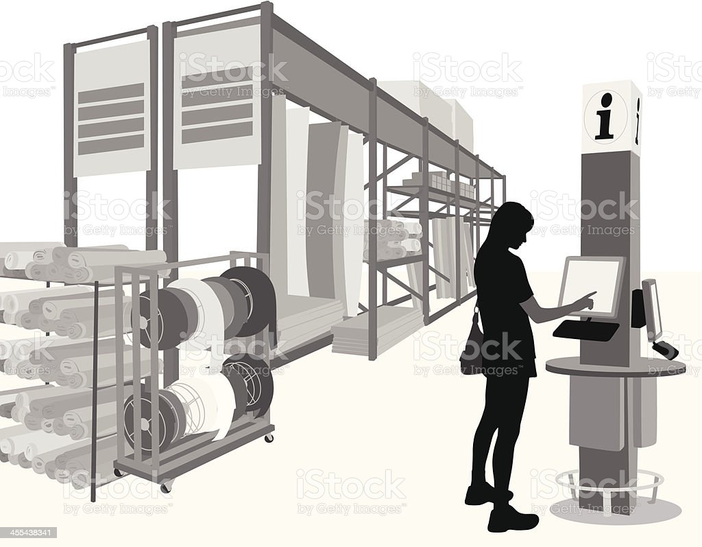 Checking Vector Silhouette vector art illustration