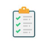 istock Checklist and Tick Icon Vector Design. 1281840118