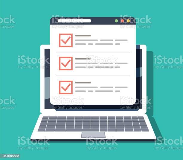 Checklist browser window check mark white tick on laptop screen vector id954688868?b=1&k=6&m=954688868&s=612x612&h=wzkigqdzhhgcriczga1ctym7ssi5if mwd 2pw kh e=