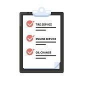 Checklist car maintenance
