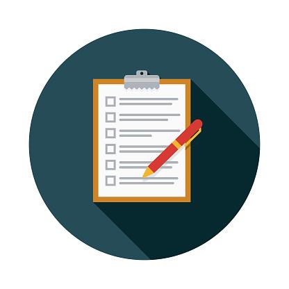 Checklist Flat Design Insurance Icon