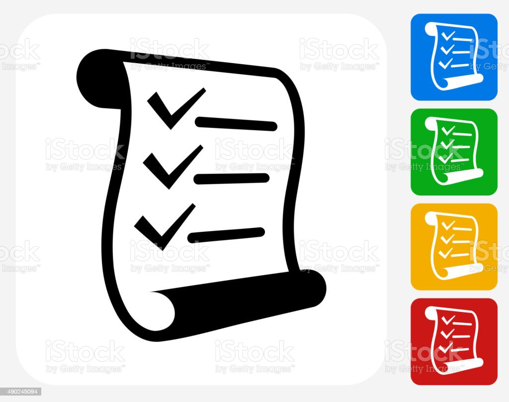 Checklist Icon Flat Graphic Design vector art illustration