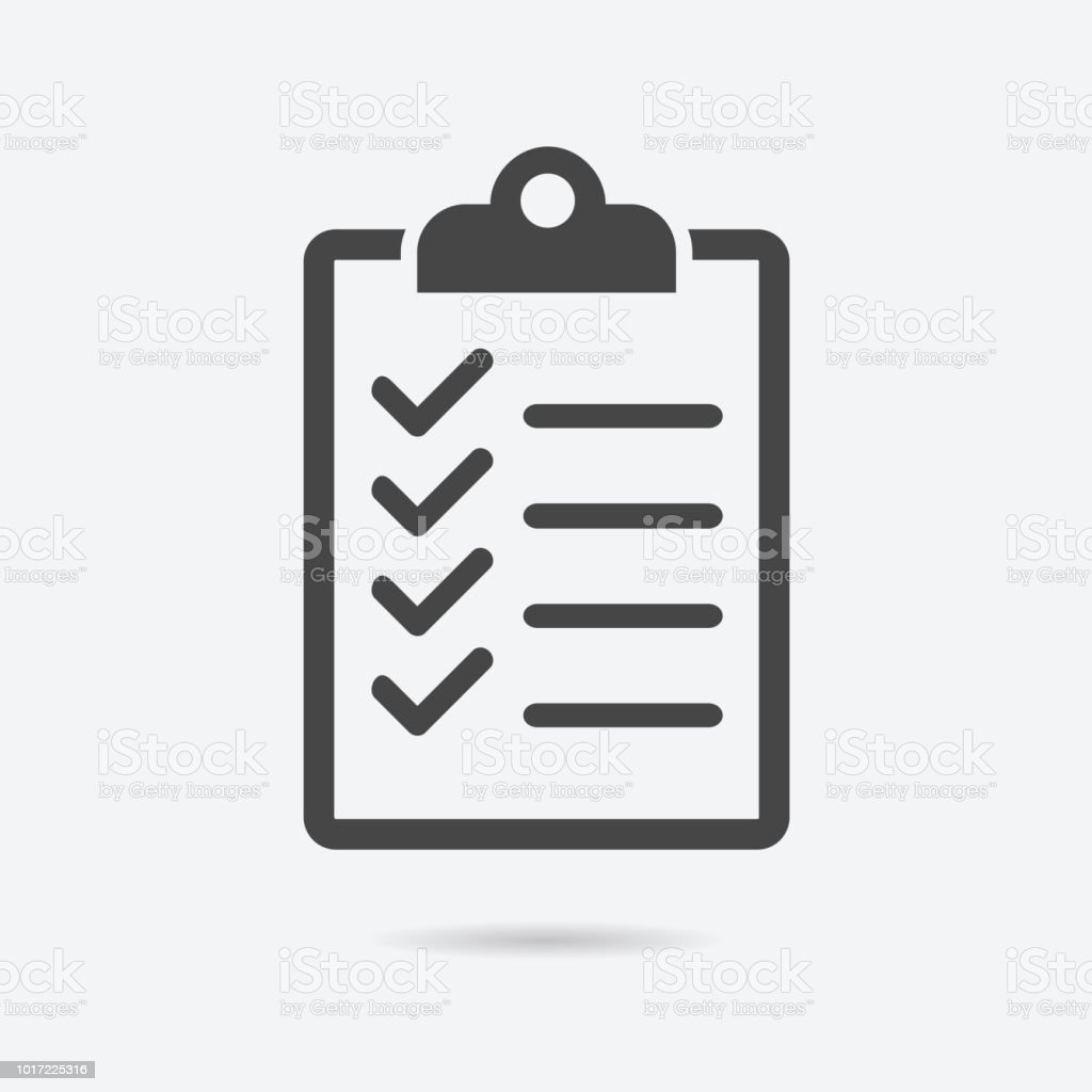 Checklist Icon Flat Style Isolated On Background Checklist Sign