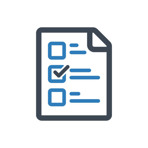 Checklist Icon This icon use for website presentation and android app survey icon stock illustrations