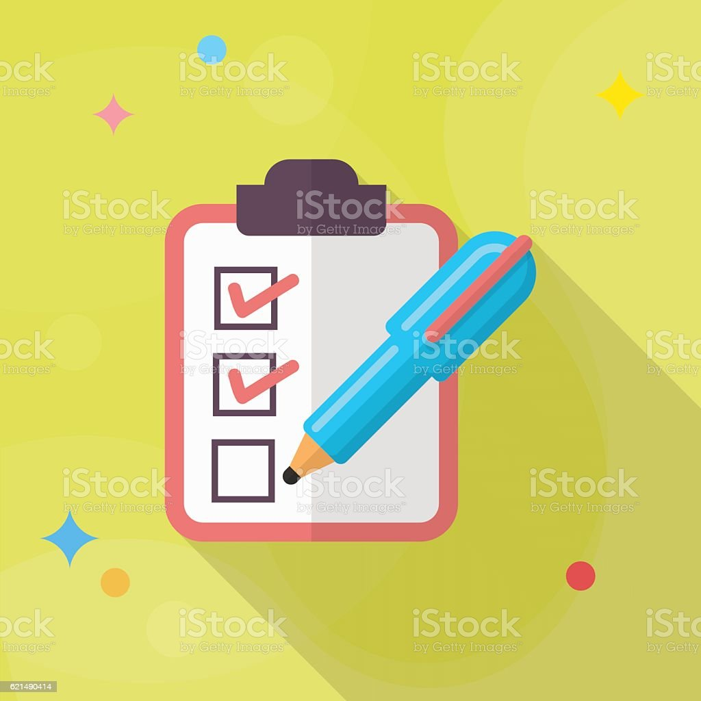 Icône de la liste de contrôle icône de la liste de contrôle – cliparts vectoriels et plus d'images de bloc-note libre de droits