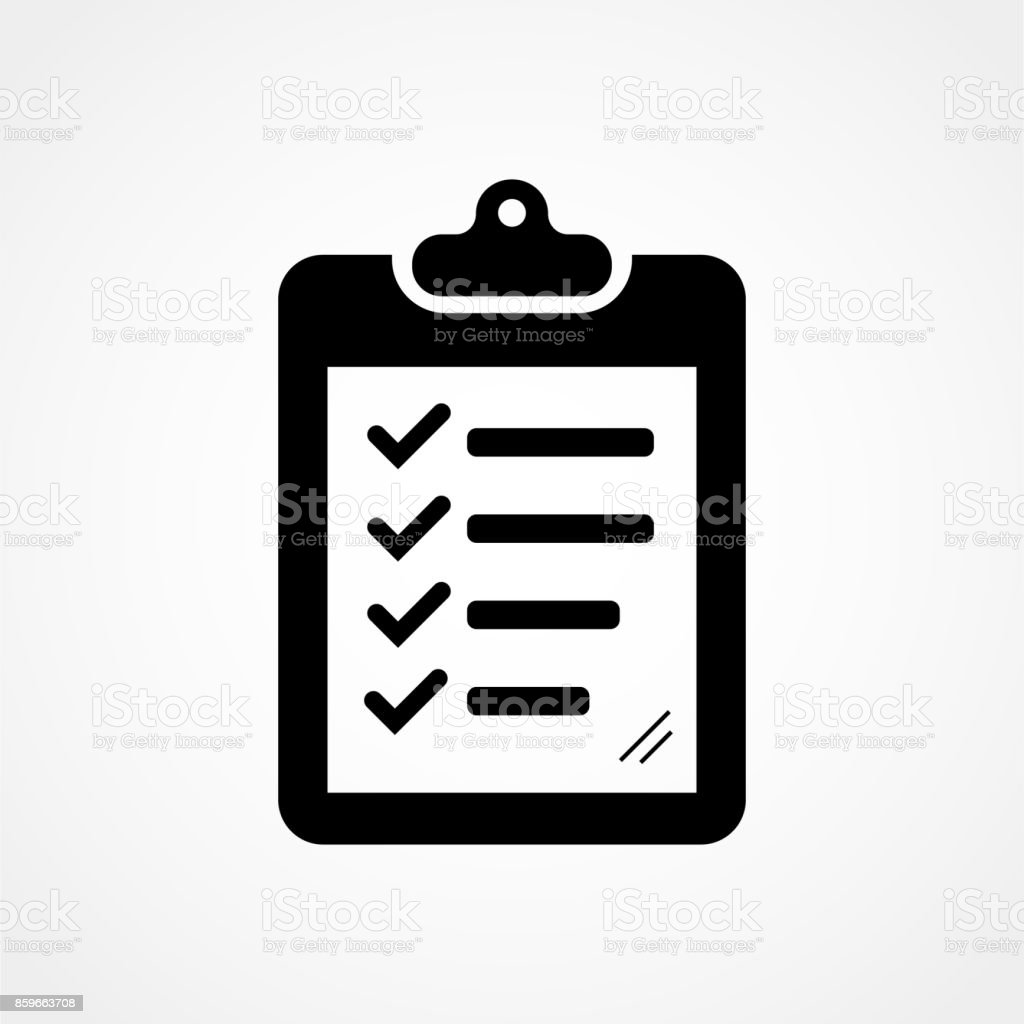 checklist icon vector art illustration