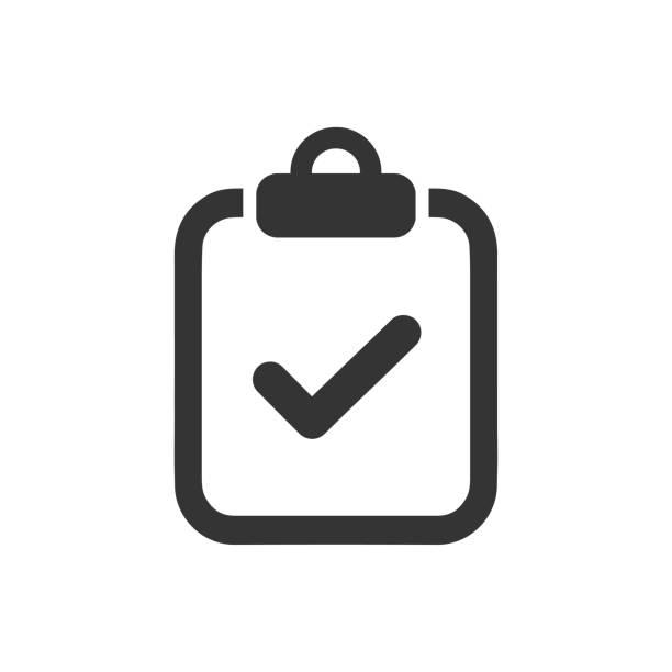 Checklist Icon Checklist Icon validation stock illustrations