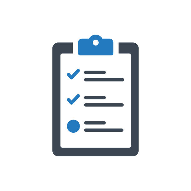 Checklist Icon This icon use for website presentation and android app chores stock illustrations