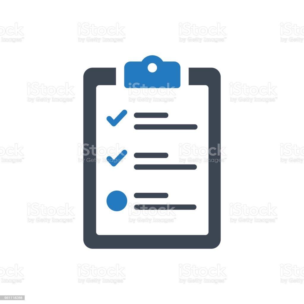 Checklist Icon vector art illustration