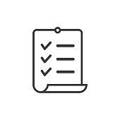 istock Checklist, modern clipboard line icon. 1319847126