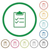 Checklist outlined flat icons