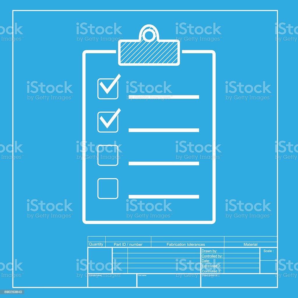 Lista De Verificación De Señal Ilustración Blanco La Sección De ...