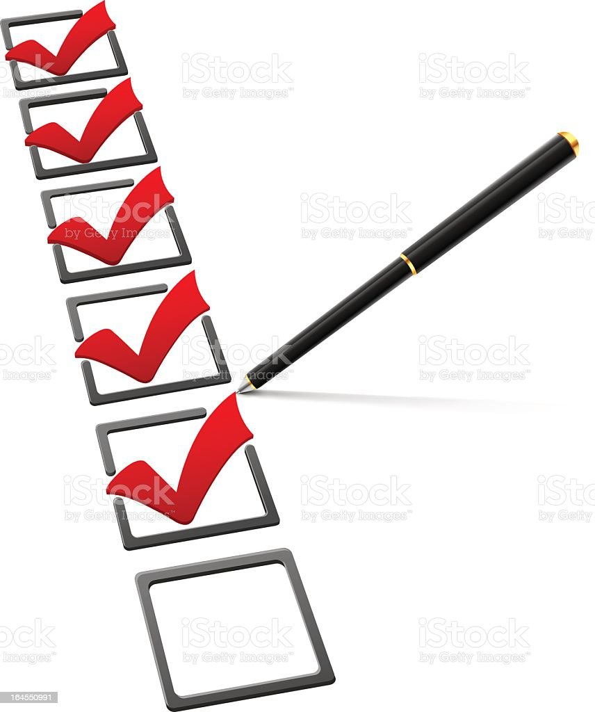 Checklist royalty-free checklist stock vector art & more images of advice