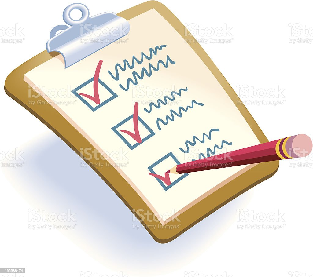 Checklist royalty-free checklist stock vector art & more images of business