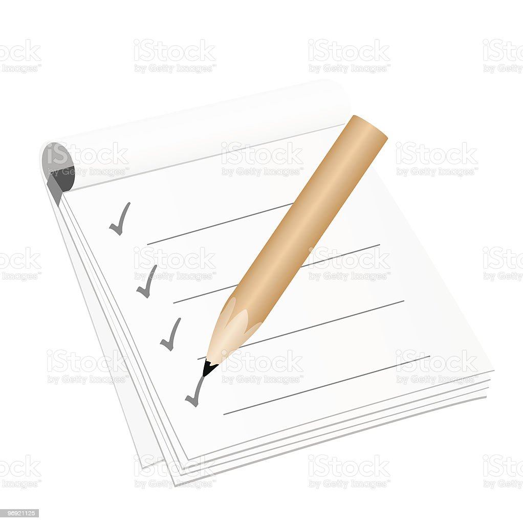Checklist royalty-free checklist stock vector art & more images of aspirations
