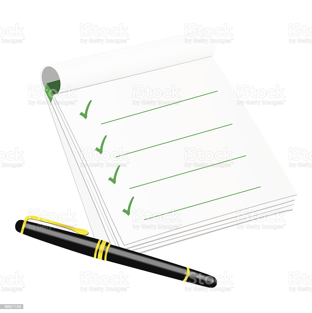 Checklist royalty-free stock vector art