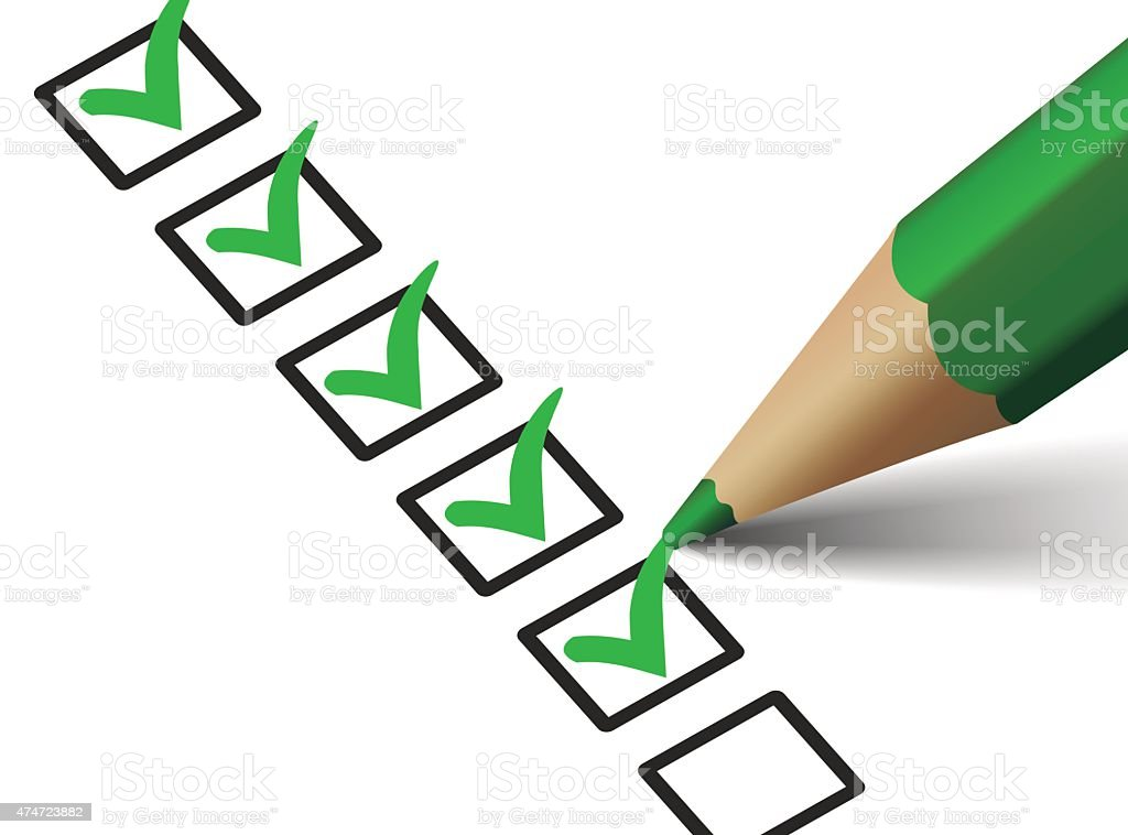 Checklist With Green Checkmark Icon vector art illustration