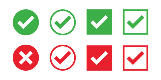 Checkmark cross on white background. Isolated vector sign symbol. Checkmark icon set. Checkmark right symbol tick sign. Flat vector icon. Test question. Checkmark cross on white background. Isolated vector sign symbol. Checkmark icon set. Checkmark right symbol tick sign. Flat vector icon. Test question. EPS 10 checked pattern stock illustrations