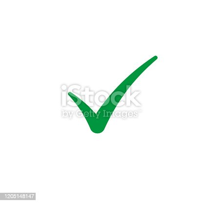 Checkmark icon, Check mark Vector isolated illustration.