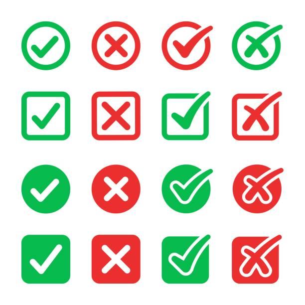 checkmark icon checkmark icon set accuracy stock illustrations