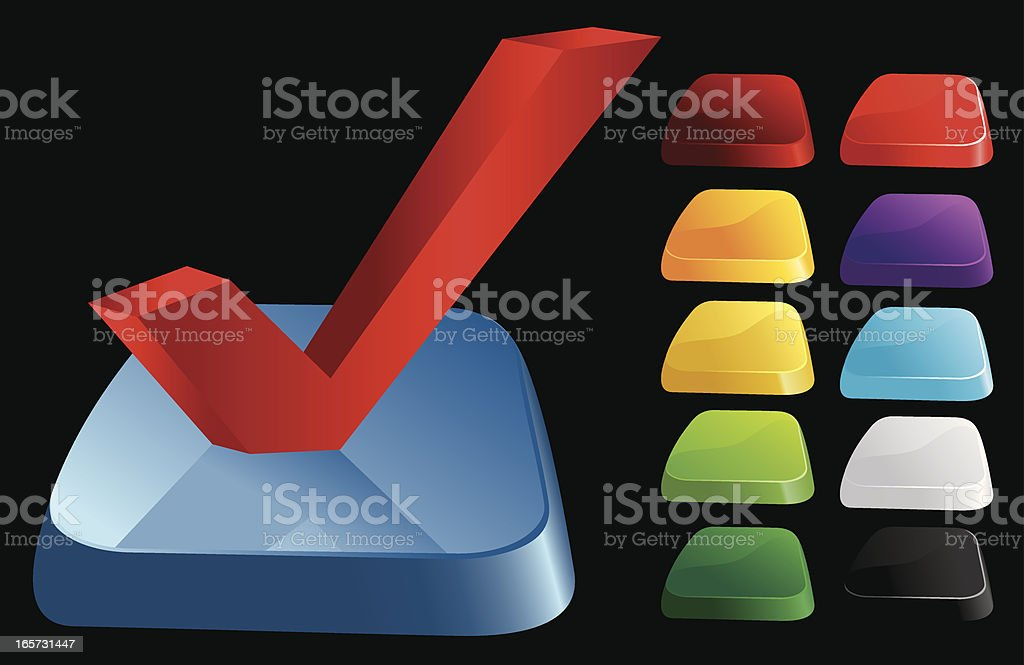 3D Checkmark Icon royalty-free stock vector art