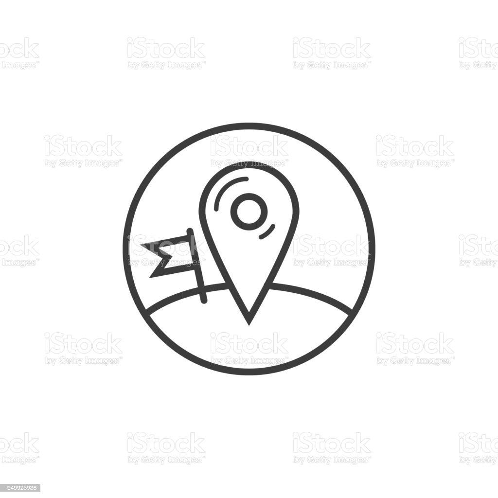 Ilustración de Icono De Punto De Control En El Marco De La Ronda y ...