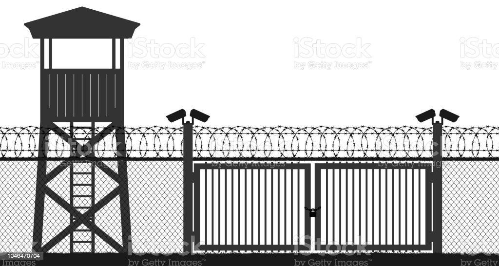 Checkpoint Kafigturm Schutz Gebiet Wachturm Staatsgrenze
