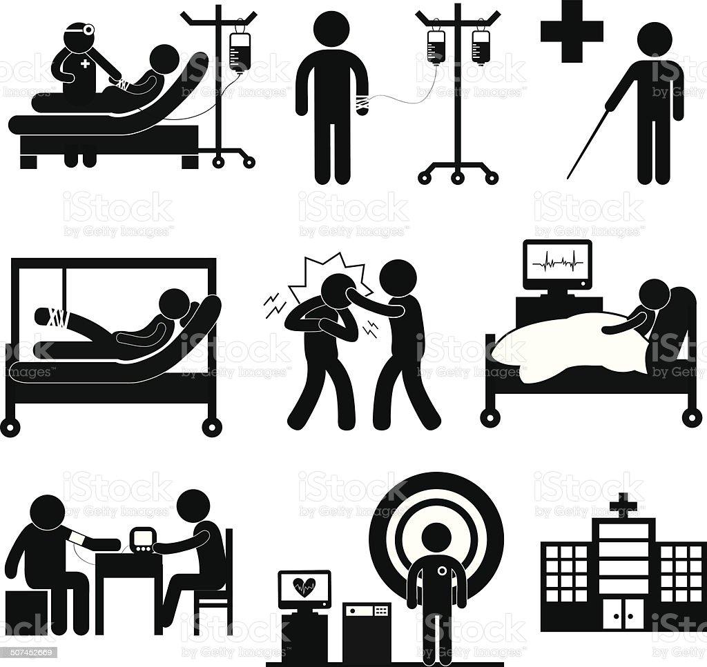 checkup medical in hospital vector art illustration