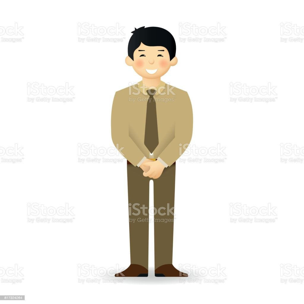 Clipart of funny old asian man