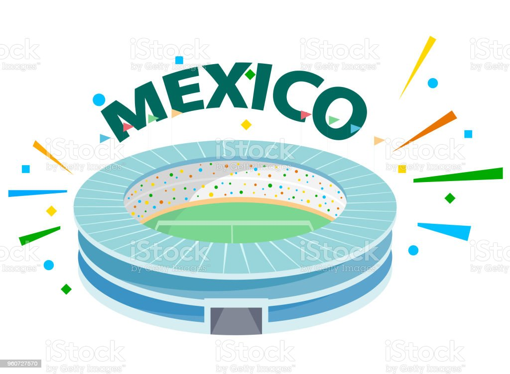 Cheer for Mexico vector art illustration