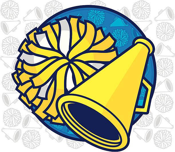 stockillustraties, clipart, cartoons en iconen met cheer leading design - pompon