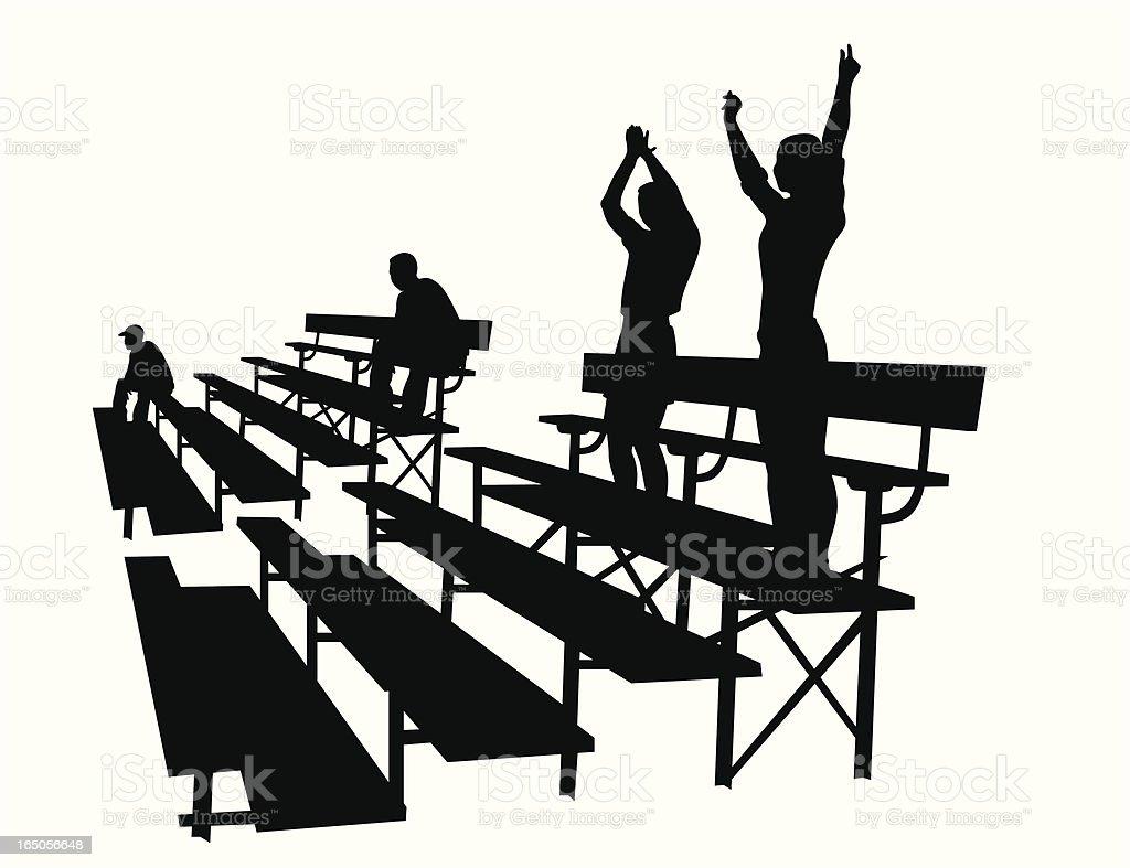 Cheer Parents Vector Silhouette vector art illustration