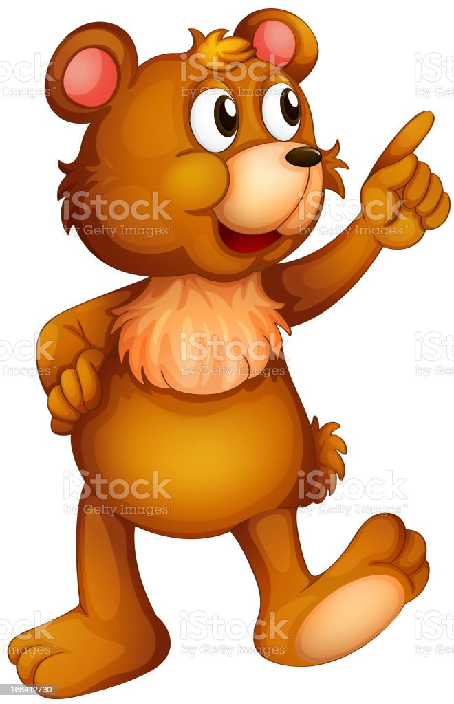 Cheerful bear royalty-free cheerful bear stock vector art & more images of abdomen
