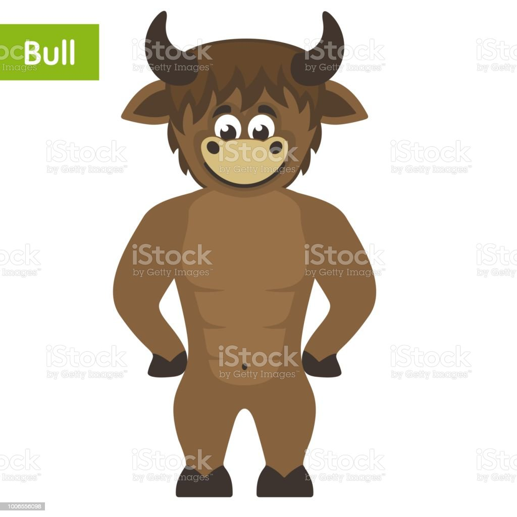 Cheerful Brown Bull Stock Illustration Download Image Now Istock