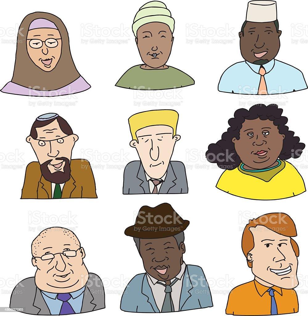 Cheerful Business People vector art illustration