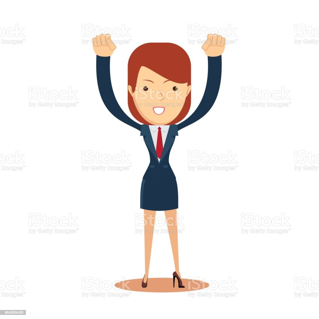 Cheerful business woman royalty-free cheerful business woman stock vector art & more images of adult