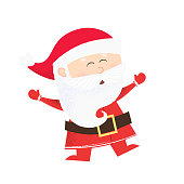 Cheerful cartoon Santa Clause dancing