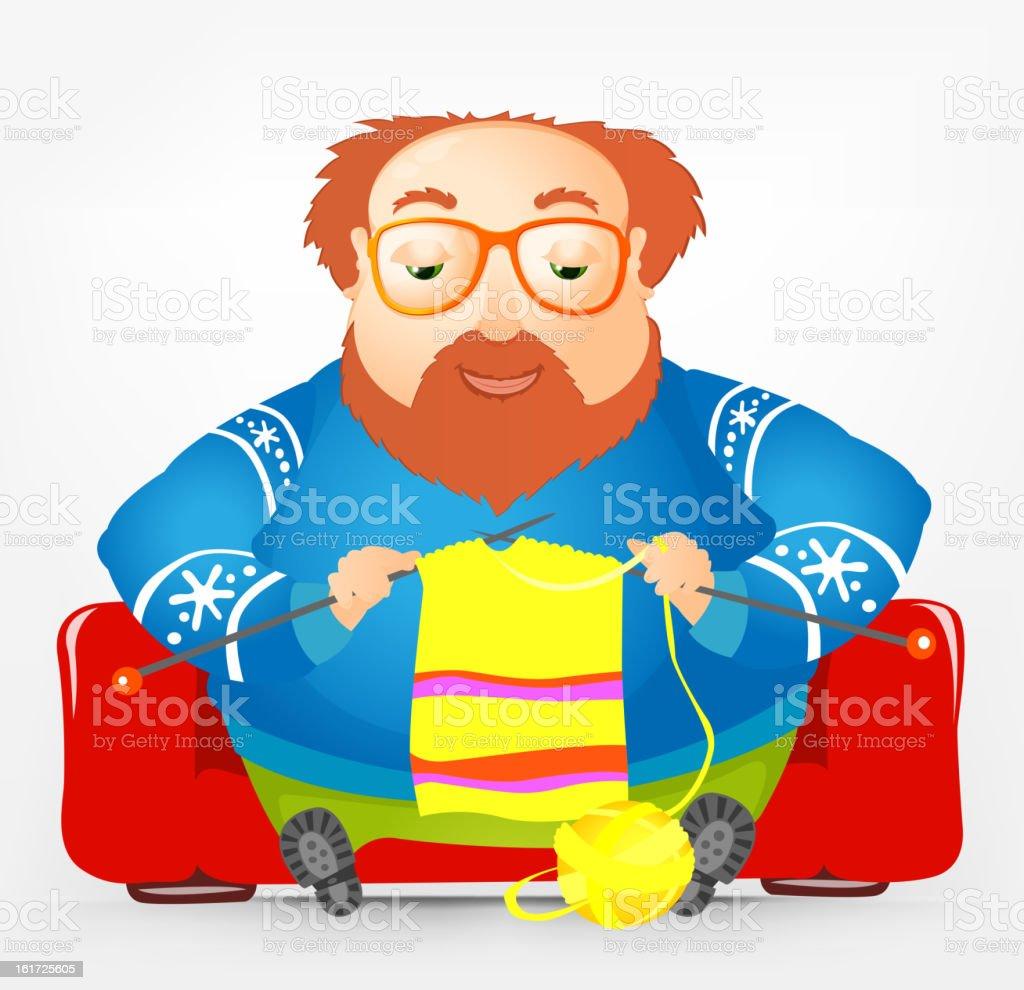 Cheerful Chubby Man royalty-free stock vector art