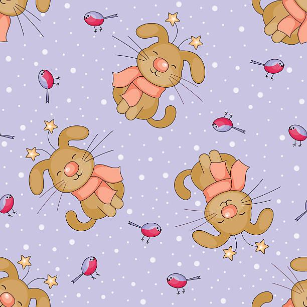 cheerful dogs seamless pattern - dompfaff stock-grafiken, -clipart, -cartoons und -symbole