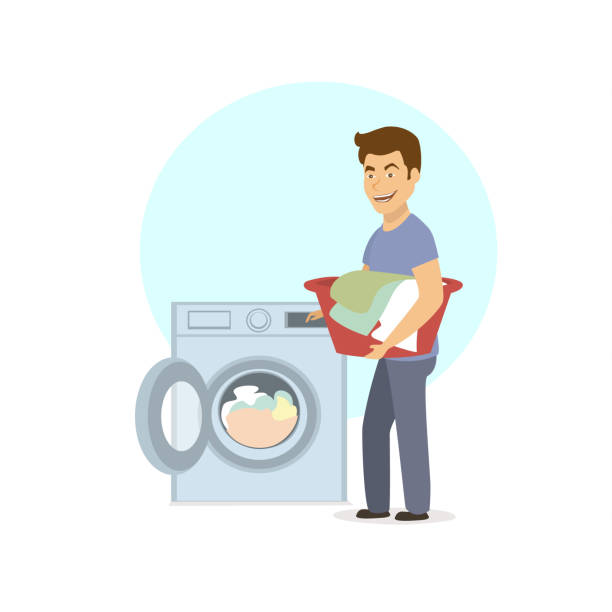 Top 60 Man Laundry Clip Art, Vector Graphics and ...