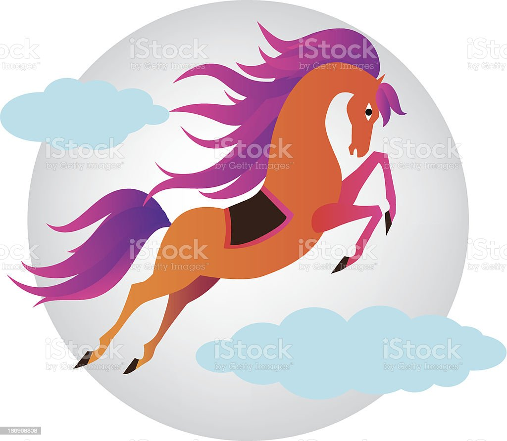 Cheerful Horse. New year. Vector illustration royalty-free cheerful horse new year vector illustration stock vector art & more images of abstract