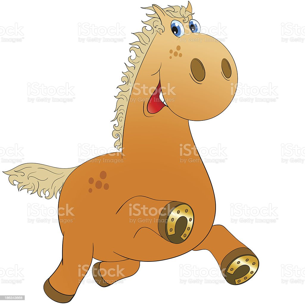 Cheerful horse (eps8) royalty-free stock vector art