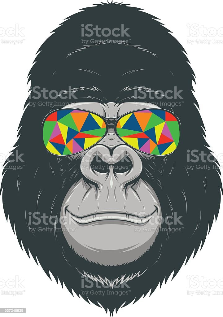 Cheerful monkey vector art illustration