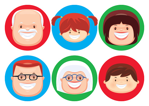 cheerful people icons
