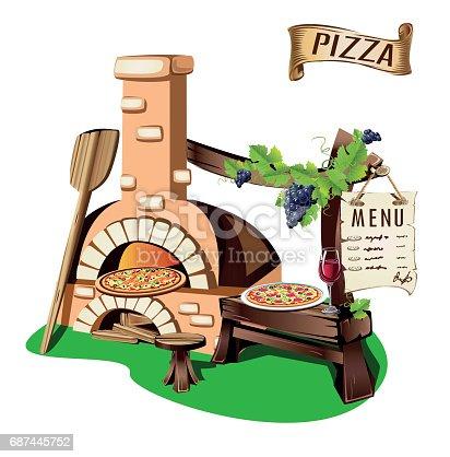 Cheerful pizzeria