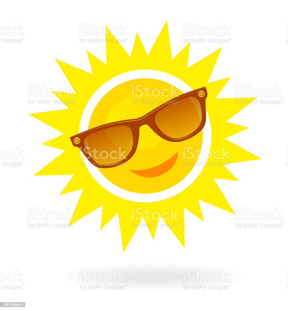 Image result for sun with sunglasses clipart